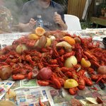 We were very lucky to get to go to a Crawfish Boil!