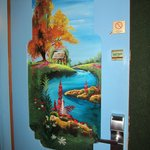  mural on the door of Old Mill room