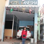In front of Hotel Ganesha