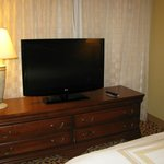 TV and dresser in bedroom
