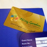  Room card.