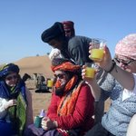 Fresh Juice for breakfast after the camel ride at dawn