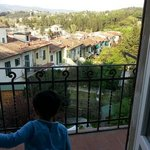  My son enjoying a beautiful view from the balcony of our room 
