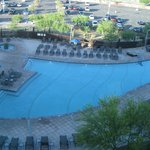 View of the pool from the fourth floor