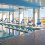 Boardwalk Resort's heated oceanfront pool has a lap lane and a hot tub.