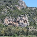  The Rock Tombs - view from a boat