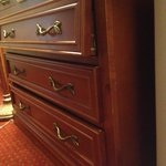 The drawers do not sit correctly in dresser!