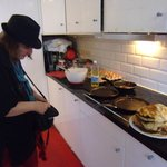 The preparation of the delicious pancakes