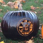 At the Pumpkin fest 'Let's go Bruins!""