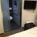 Surprised that room was so small, but was able to fit several amenities