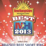  Come try our short ribs - a Best of NH 2013 winner!