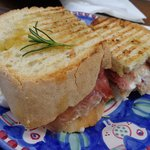 Proscuitto and Mozzarella Panini ...A Mazing!