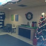  Lobby area all decorated for Christmas
