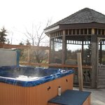 Our Hot tub & Gazebo