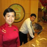 The always friendly and helpful staff at the Elios Hotel
