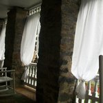 This is the private porch that is attached and exclusive to the Serenity Suite.