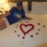  Rose pedals in room for birthday!
