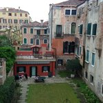 Courtyard view from our room.  The real residential Venice.