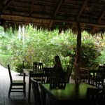 in the open air restaurant