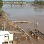 Burnett river view after the second flood
