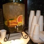  Fruit flavoured chilled water in Foyer