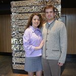 Irina Tararykina and Igor Gushchin at the lobby