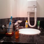  bathroom, sink and hair-drier