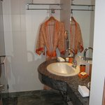  Modern bathroom with robes and lovely soap!
