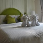 'Elephants' on the bed