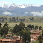  vista de Andes da cidade de Chinchero