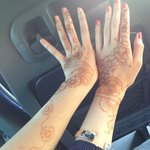 our hennas two days later