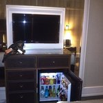 Minibar and TV at Titanic Hotel Istambul