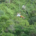  Aloha from the middle of the zipline