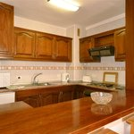  A typical kitchen - all have microwave, hob, oven, fridge, kettle &amp; toaster
