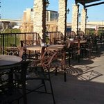  Patio seating looking over Illinois River to Peoria