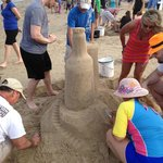  Sand Castle building contest being held on the beach &quot;not us&quot;