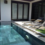 Villa's pool area