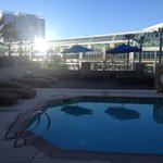 Pool area in the a.m