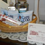 This lovely gift basket offered complimentary Cape Cod treats.