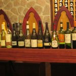  Part of the wine tasting selection.