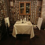  Romantic dinner for two in the wine cellar.