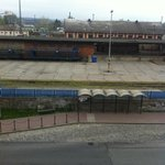  View from the room - railway station!!!