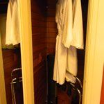  Closet with robes, fan, heater and anything else u can think of!