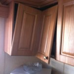 Broken kitchen cupboard