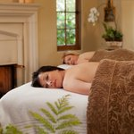 Enjoy fireside spa services