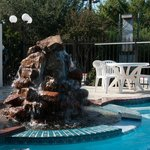 Rock Fountain at Outdoor Pool