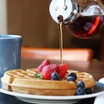 Enjoy Fresh Waffles with your Free Breakfast!