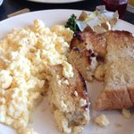 The most delicious breakfast! Soda bread and scrambled eggs