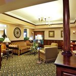  Our comfortable lobby is a great place to catch up.