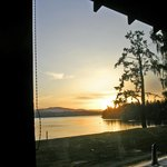  Sunset over Deep Cove from the Chalet Dining Room